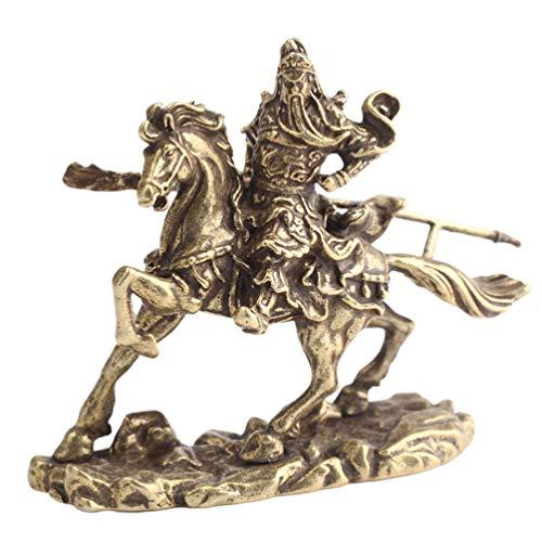 Garneck Estatua de caballo de Guan Yu, escultura de héroes chinos para tradición de mitología oriental, decoración para el hogar
