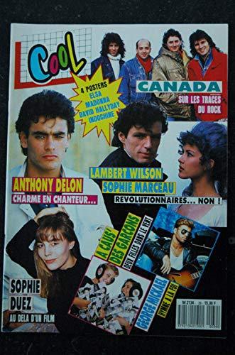 COOL 039 1988 GEORGE MICKAEL SOPHIE MARCEAU A CAUS\' DES GARCONS + POSTERS MADONNA INDOCHINE ELSA DAVID HALLYDAY
