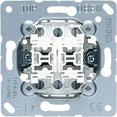 JUNG 509U Mecanismo Interruptor, 10 AX / 250 V, Doble Conmutador