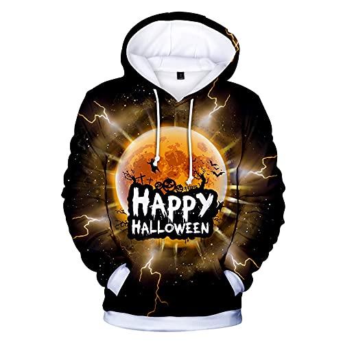 WBYFDC Sudadera con Capucha De Halloween 3D Otoño Invierno Sudadera De Terror Hombres Mujeres Sudadera con Capucha Impresa Sudaderas con Capucha Frescas Hip Hop