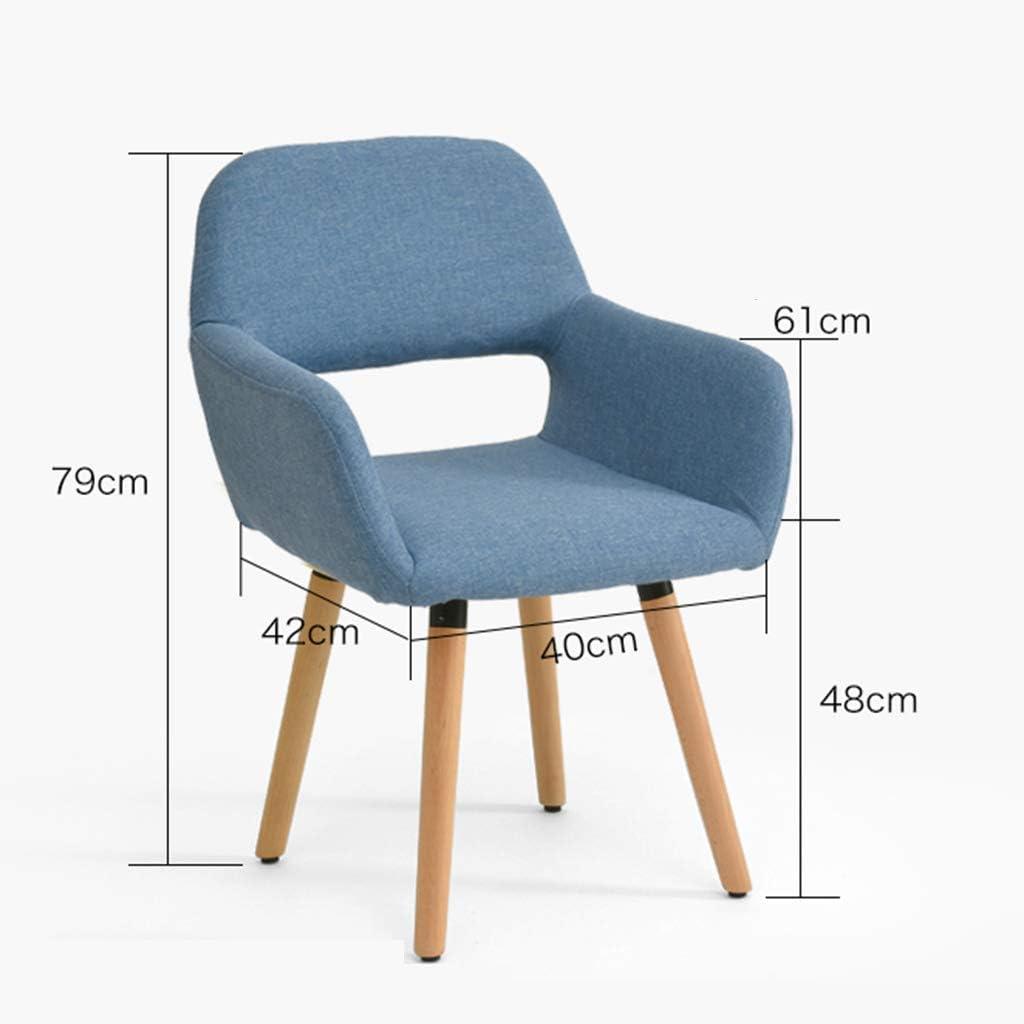 Chaise en bois massif Chaise d'ordinateur moderne simple Chaise de bureau créative nordique Chaise de salle à manger de loisirs Accoudoir creux (Couleur : D) B