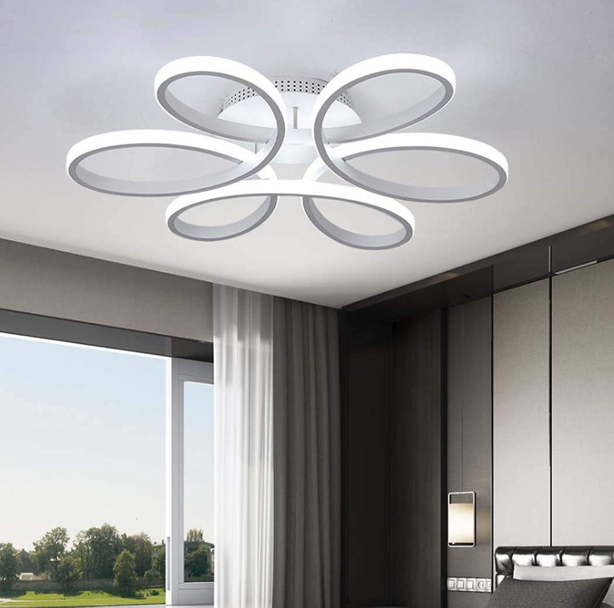 受信機軽食スムーズにシンプルな花のLEDシーリングライトモダンなLED埋め込み天井灯寝室研究オフィスの照明、68W / 75W、58 * 11cm,Whitelight
