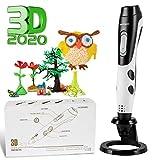 Penna 3D Professionale,GIANTARM Penna 3D Stampa + 12 colori Set filamento PLA, temperatura regolabile/velocità, ugello sostituibile, penna stampa 3D regalo creativo fai da te, compatibile con ABS/PLA