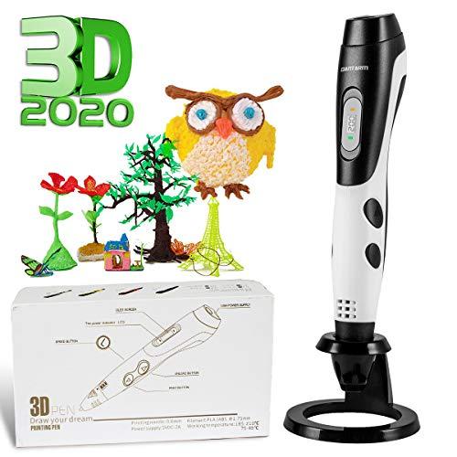 GIANTARM Penna 3D Professionale Penna 3D Stampa + 12 Colori Set filamento PLA, Temperatura...