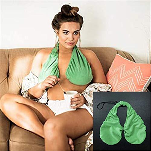 Mzthkly Bequemes Lässiges Tata-Handtuch, Crop Top Damenbekleidung Samt-BH Aus Massiver Baumwolle (Verde, M)