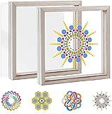Pajaver Kit de arte para ventanas de vidrieras para adultos Niños pintura de vidrio creativa aficiones con marco de vidrio acrílico Arte de la ventana adecuado para niños y adultos artesanías
