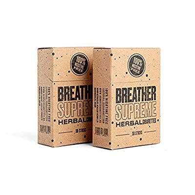 Herbal Cigarettes - Tobacco and Nicotine Free 2 Packs 40 Smokes from breather