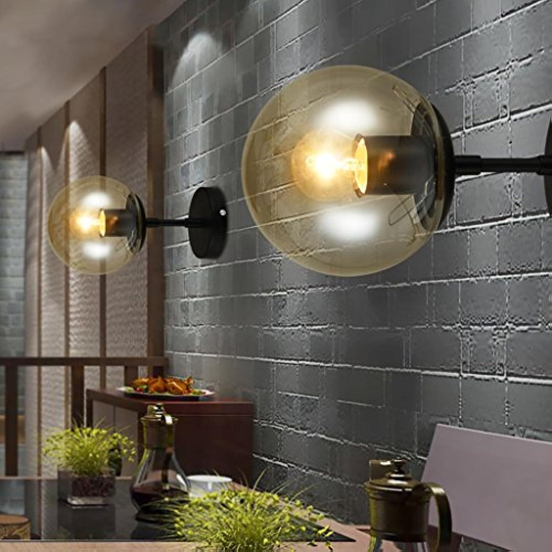 Iron Art Magic Bean Wandleuchte Wohnzimmer Glaskugel Wandleuchten Einzel-   Doppelkopf Schlafzimmer Nachttischlampe (gre   Single head)