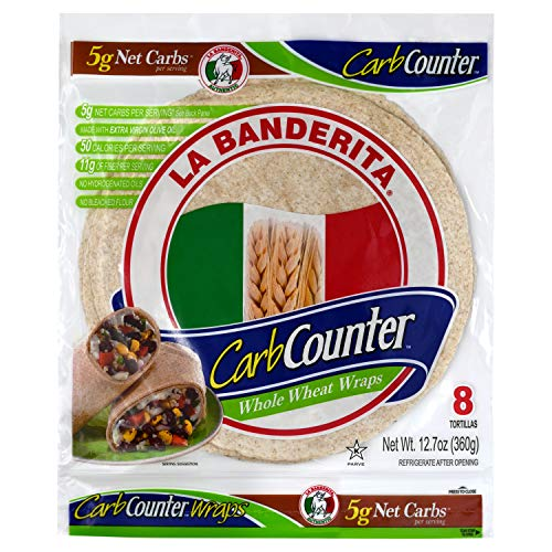 La Banderita® Carb Counter / Whole Wheat Flour Tortillas | 8 Size | 8 Count Each Pack | 4 Pack Case // Taste the tradition.