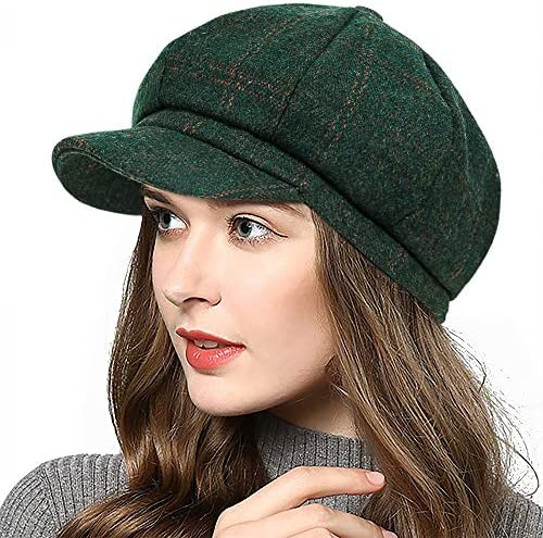 PanPacSight Women s Newsboy Hats Fall Wool Cabbie Beret Tweed Girls Paperboy Cap product image