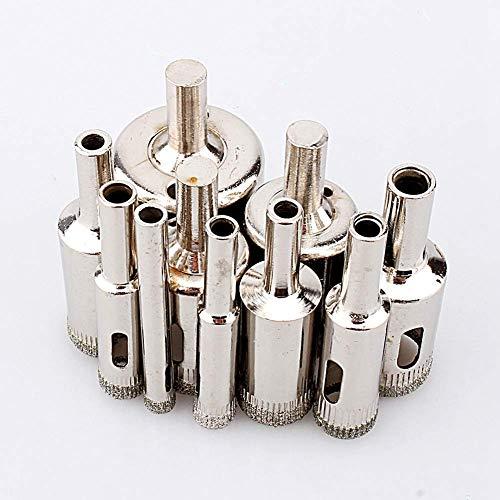 LKK-KK Diamond Hole Saw Drill Bit Set 10 PCS Diamond 6-30mm Hole Saw Tile Ceramic Glass Porcelain