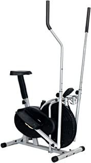 LIANYANG Entrenador de máquina elíptica Interior Paso a Paso Equipo de Ejercicio Compacto Life Fitness para Oficina en casa (Color:Negro,tamaño:91x50.5x152.5cm)