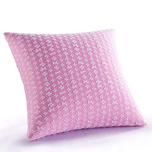 YONGYONG Canapé Oreiller Chaise De Bureau Retour Voiture Taille Pad Carré Oreiller Mémoire Coton Lent Rebond Moderne Simple Oreiller 45 Cm * 45 Cm (Color : Pink)