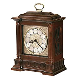 MISC Solid Wood Clock with Silence Option - 16.5 Inches High X 12 Wide 7 Long Brown Classic Traditional Rectangular Cherry Finish Battery Numerical Display