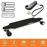 Laiozyen Longboard Électrique - Scooter Skateboard Électrique Adulte avec Télécommande sans Fils, Moteurs 250W, Vitesse Maximal 20km/h Autonomie E-Skateboards (Color1)