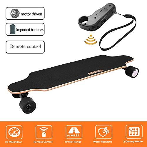 Laiozyen Longboard Elektromotor Skateboard E Skateboard, Longboard LG-Akku mit Fernbedienung, 20Km/h Skaten Cruiser Boards (Color3)