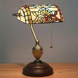Lampe de Table Lampe rétro de Style Directement dans la Base de Puissance en Alliage de Zinc matériau ombrage église Verre...