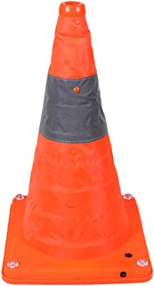 Collapsible Traffic Cone Road Safety Pop Up Light Up USB Rechargeable Nighttime LED Lights 3 Modes Emergency Orange Reflective Cones 16 Inch
