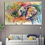KWzEQ Sala de niños Animales de Dibujos Animados Modernos lienzos Impresos Carteles e Impresiones decoración del hogar para niños,Pintura sin Marco,30x45cm