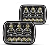 2PCS 5x7 Led Headlights from Torchbeam, 180% Brighter Upgraded Replacement H6054 Headlamp Assembly Compatible with Wrangler YJ XJ, Cherokee XJ, Safari, Savana