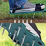 ADEPTNA Lawn Aerator Spike Nail Shoes Sandals with Adjustable Straps Universal size – Aerates the Soil with Little Effort for a Greener Healthier and More Lawn