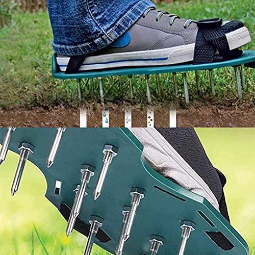 ADEPTNA Rasenbelüfter Spike Nagel Schuhe Sandalen mit verstellbaren Riemen Universalgröße - belüftet den Boden mit wenig Aufwand für einen grüneren gesünderen und mehr Rasen