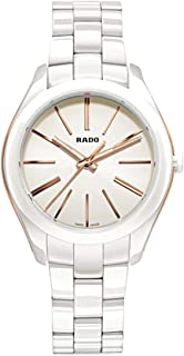 Rado HyperChrome White Dial Stainless Steel and Ceramic Case Ceramic Bracelet Ladies Watch R32323012