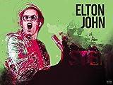 777 Tri-Seven Entertainment Elton John Poster Music Wall