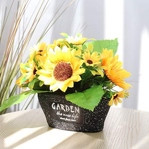 Künstliche Blumen Topf Gefälschte Blumen Topfpflanzen Für Zuhause Wohnzimmer Büro Party Dekoration Mini Kunstpflanzen Unechte Deko Blumen kunstblumen