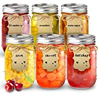 6-Pack Sungwoo Mason Canning Jars, 16 ounces