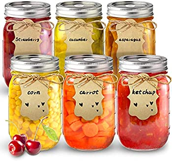 6-Pack Sungwoo Mason Canning Jars, 16 ounces