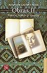 Obras II. Poesía, teatro y ensayo par Castellanos