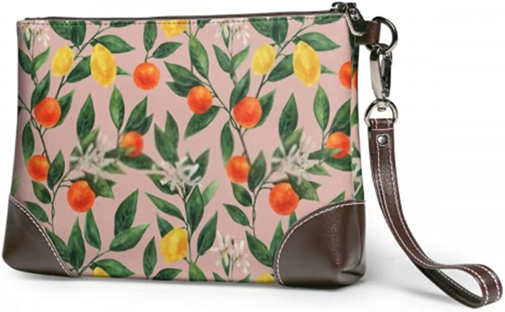 Wristlet Handbag Ornament Made Leather Max 52% Long Beach Mall OFF Clutch Branches