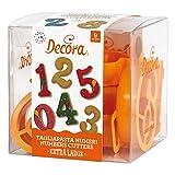 Decora 0255098 Kit Composto da 9 TAGLIAPASTA Numeri GIGANTI, Giallo