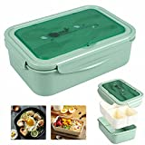 Bento Box Hermetico, Lunch Bento Box con 3 Compartimentos y...