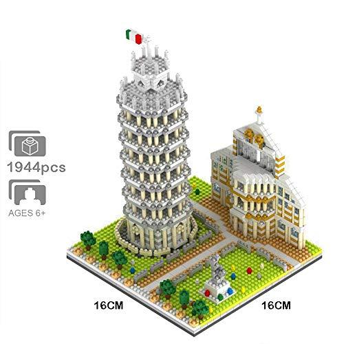Architecture de renommée Mondiale, Tour penchée de Pise, modèle 3D, Mini bâtiment en Diamant, Nano Briques, Blocs, Jouets