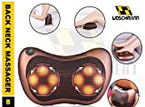Woschmann-Back Neck Massager Kneading Massage Pillow with Heat for Shoulders, Lower Back, Calf, Legs, Foot - Use at Home, Office, and Car(Brown)