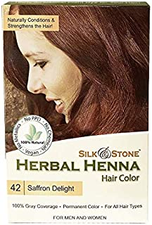 Herbal Henna Hair Color #42: Saffron Delight (Mahogany)