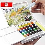 30/24/18/12 Color Caja de pintura de acuarela sólida Set Estudiante profesional Pigmento sólido Artlam, 18 colores