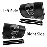 YHMTIVTU Motorcycle Saddle Bags Leather Tool Bag Skull Swingarm Bag Fit for Harley Sportster XL 883 1200 Suzuki Yamaha Left and Right Side