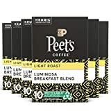Peet's Coffee Luminosa Breakfast Blend K-Cup Coffee Pods for Keurig Brewers, Light Roast, 60 Pods