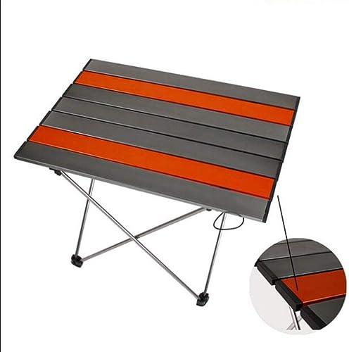 UNAU Table de Camping en Aluminium Portable (Couleur   B, Taille   L)