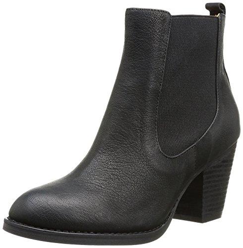 Buffalo London Damen 412-0964-2 ARNO Leather Chelsea Boots, Schwarz (Black 01), 36