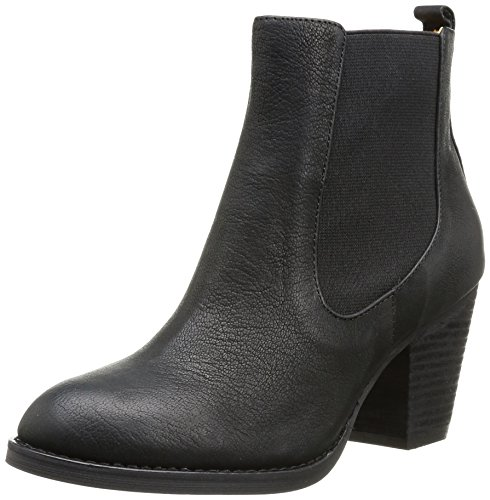 Buffalo London Damen 412-0964-2 ARNO Leather Chelsea Boots, Schwarz (Black 01), 36 EU