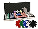 DA VINCI Set of 500 11.5 Gram Poker Chips with Aluminum Case, 3 Dealer...