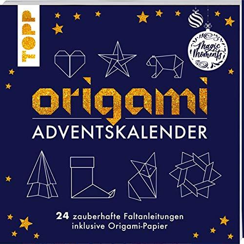 Origami Adventskalender: 24 zauberhafte Faltanleitungen inklusive Origami-Papier
