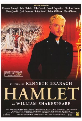 Hamlet Movie Poster (27 x 40 Inches - 69cm x 102cm) (1996) Style B -(Kenneth Branagh)(Kate Winslet)(Julie Christie)(Derek Jacobi)(Richard Briers)(Brian Blessed) by MG Poster