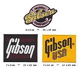 Gibson - Parche termoadhesivo, 3 unidades, diseño de guitarra Les Paul Flying V