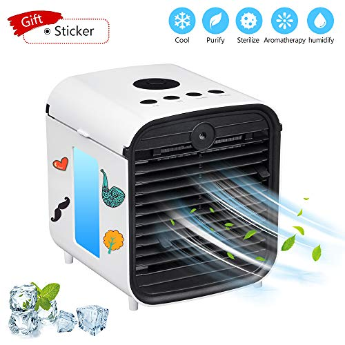 Sunbond Portable Air Conditioner, USB air Cooler, Humidifier, Desktop Mini Cooling Fan, Personal...