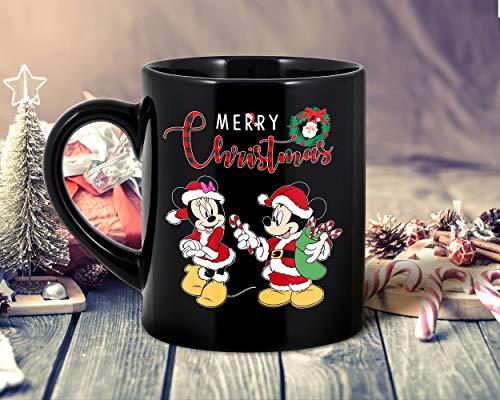 DKISEE Mickey und Minnie Mouse Merry Christmas Kaffeetassen – Weihnachtsgeschenk 2020 Geschenk für Männer und Frauen